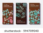 vector set of chocolate bar... | Shutterstock .eps vector #594709040