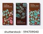 vector set of chocolate bar... | Shutterstock .eps vector #594709040
