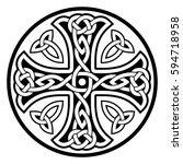 celtic national ornament in the ... | Shutterstock .eps vector #594718958