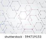 vector abstract futuristic.... | Shutterstock .eps vector #594719153