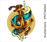 vector illustration of anchor...   Shutterstock .eps vector #594736064