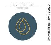 drop modern vector outline icon | Shutterstock .eps vector #594736820