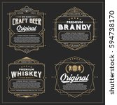vintage frame design for labels ... | Shutterstock .eps vector #594738170