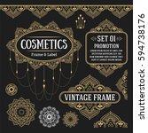 set of retro vintage graphic...   Shutterstock .eps vector #594738176