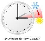 vector illustration of a clock... | Shutterstock .eps vector #594738314