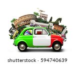 italy and landmarks | Shutterstock . vector #594740639