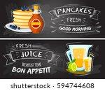 premium quality restaurant... | Shutterstock .eps vector #594744608