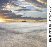 sunset asphalt asphalt tire... | Shutterstock . vector #594748709