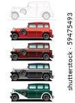 vector illustration of  vintage ... | Shutterstock .eps vector #59475493