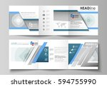 set of business templates for... | Shutterstock .eps vector #594755990