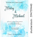 wedding invitation template...   Shutterstock .eps vector #594759440
