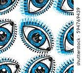 eyes blue  graphic art pattern | Shutterstock .eps vector #594769439