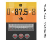 radio application template | Shutterstock .eps vector #594778496