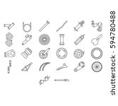 fresh bicycle part icons. more... | Shutterstock .eps vector #594780488