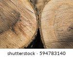 wood texture  tree rings  logs  ...   Shutterstock . vector #594783140