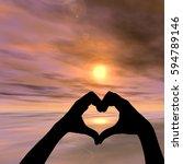 concept or conceptual heart... | Shutterstock . vector #594789146
