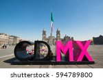 mexico city   circa february... | Shutterstock . vector #594789800