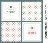 spring vector typographic... | Shutterstock .eps vector #594794774