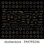 gold vintage decor elements and ...   Shutterstock .eps vector #594795236