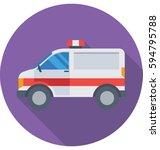 ambulance vector icon | Shutterstock .eps vector #594795788