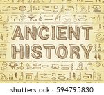 ancient history text and... | Shutterstock . vector #594795830