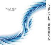 bright vector background. wavy... | Shutterstock .eps vector #594797810
