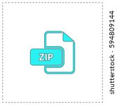 zip outline vector icon with...