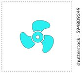 propeller outline vector icon...