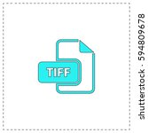 tiff outline vector icon with...