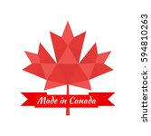 made in canada banner  flag red ... | Shutterstock .eps vector #594810263