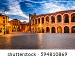 the amphitheatre  completed in... | Shutterstock . vector #594810869