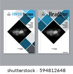 annual business report cover... | Shutterstock .eps vector #594812648