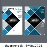 annual business report cover... | Shutterstock .eps vector #594812723