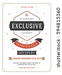 sale flyer or poster design... | Shutterstock .eps vector #594815360