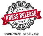 press release. stamp. sticker.... | Shutterstock .eps vector #594817550