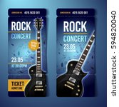 vector rock festival ticket... | Shutterstock .eps vector #594820040