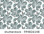 bright hawaiian with tropical... | Shutterstock . vector #594826148
