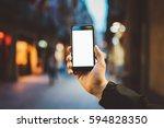 mockup of blank screen of... | Shutterstock . vector #594828350
