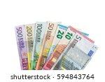 Various Denominations Of Euro ...