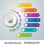 timeline infographics design... | Shutterstock .eps vector #594846959