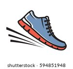 running shoes vector icon | Shutterstock .eps vector #594851948