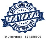 know your role. stamp. sticker. ... | Shutterstock .eps vector #594855908