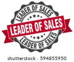 leader of sales. stamp. sticker.... | Shutterstock .eps vector #594855950