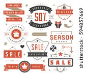sale badges and tags design... | Shutterstock .eps vector #594857669