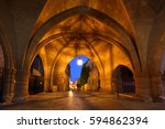 Small photo of Greece, Rhodes Island - Medieval Rhodes Old Town - Knight's Alley at night