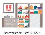 shoes shop footwear store. shoe ... | Shutterstock .eps vector #594864224