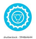 chakra symbol   Shutterstock . vector #594864644
