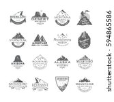 vector set of premium labels on ... | Shutterstock .eps vector #594865586