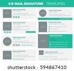 set of 8 flat and modern e mail ... | Shutterstock .eps vector #594867410