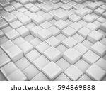 white 3d cubes glossy... | Shutterstock . vector #594869888